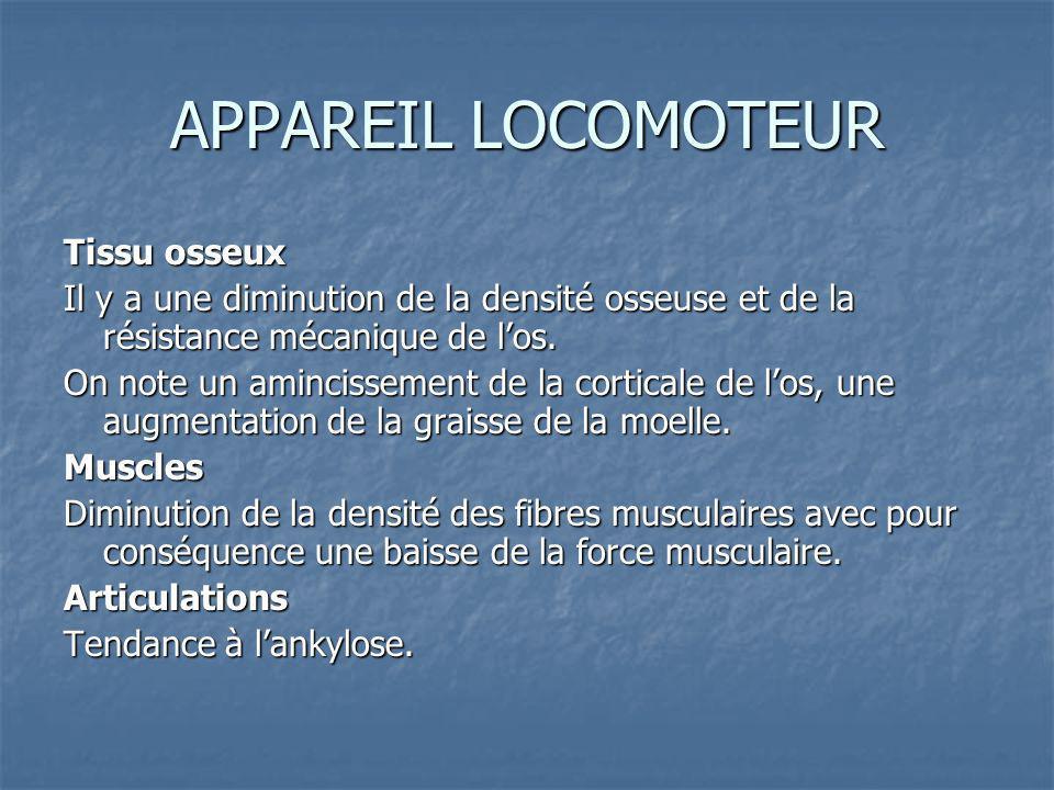 APPAREIL LOCOMOTEUR Tissu osseux