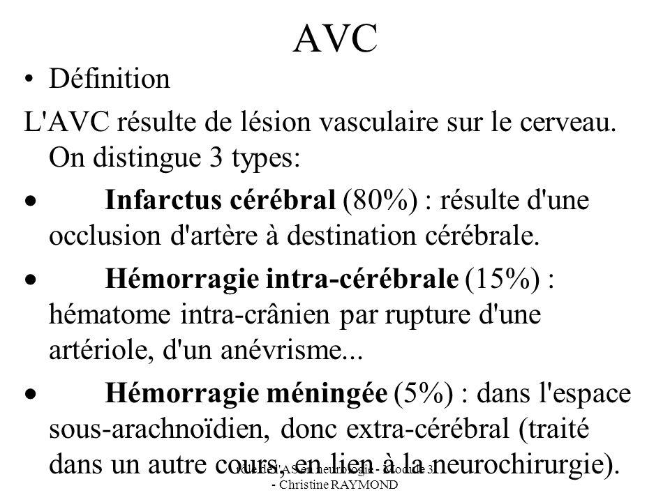 rôle de l AS en neurologie - Module 3 - Christine RAYMOND