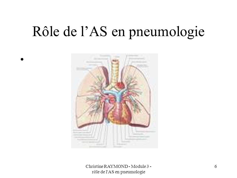 Rôle de l'AS en pneumologie
