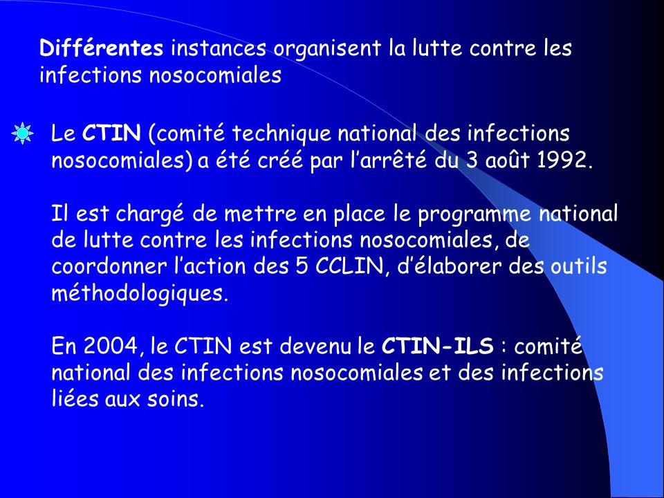 Différentes instances organisent la lutte contre les infections nosocomiales