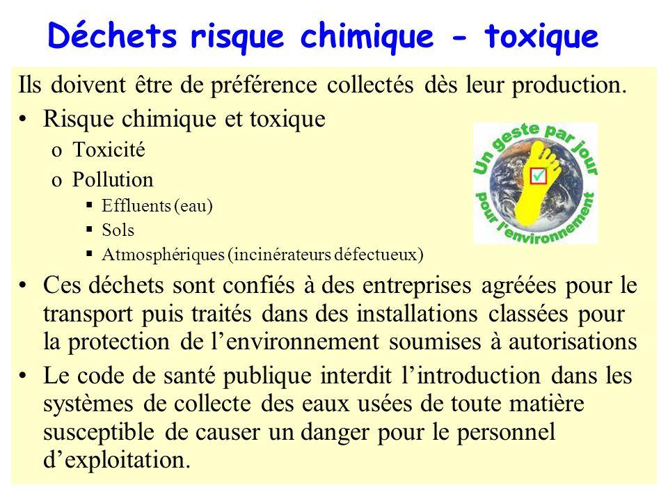 Déchets risque chimique - toxique
