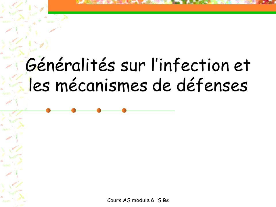 Généralités sur l'infection et les mécanismes de défenses