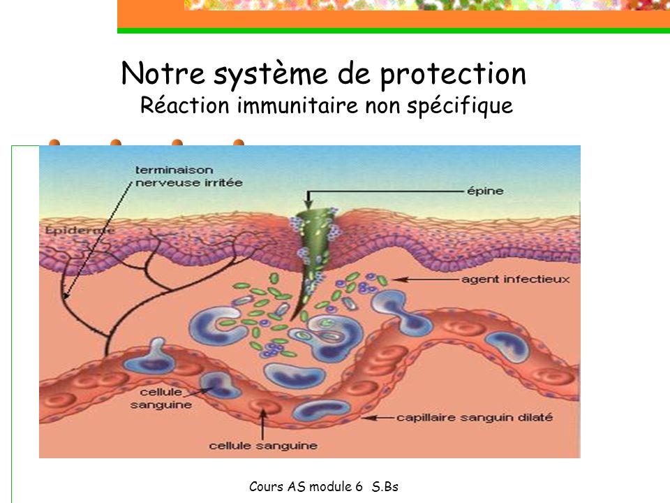 Notre système de protection Réaction immunitaire non spécifique