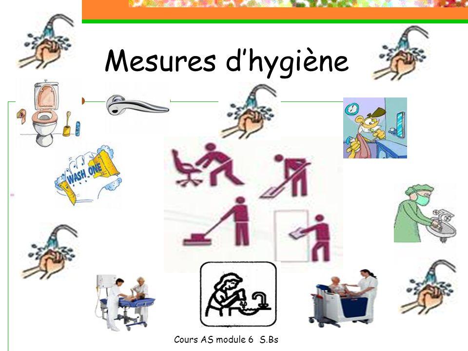 Mesures d'hygiène Cours AS module 6 S.Bs