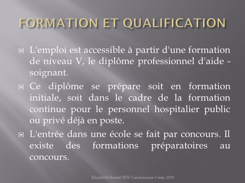 FORMATION ET QUALIFICATION