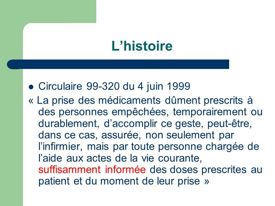 L'histoire Circulaire 99-320 du 4 juin 1999