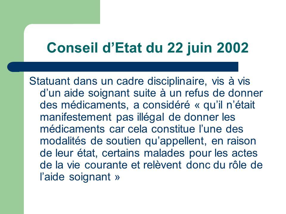 Conseil d'Etat du 22 juin 2002