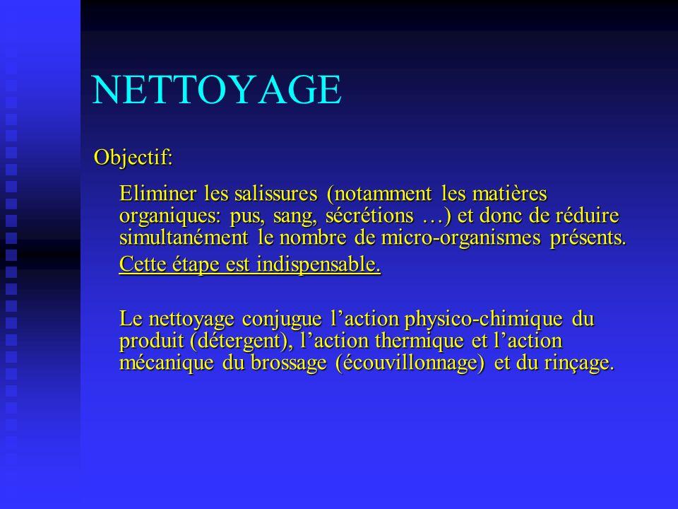 NETTOYAGEObjectif: