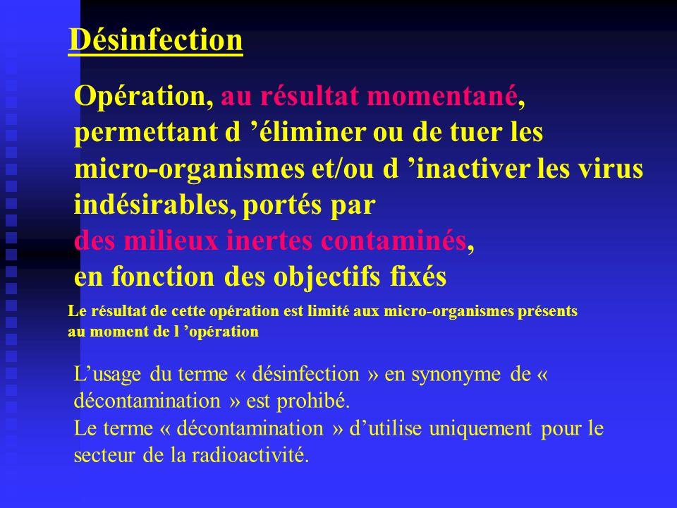 Désinfection Opération, au résultat momentané,