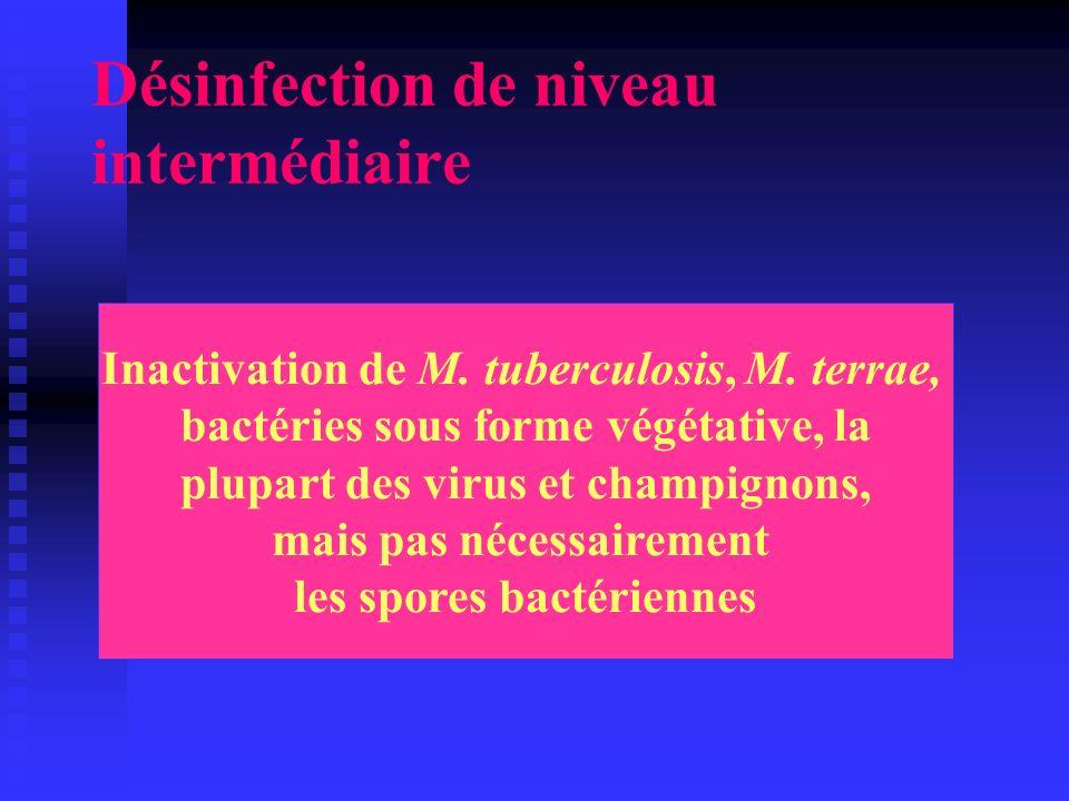 Désinfection de niveau intermédiaire