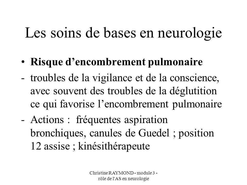 Les soins de bases en neurologie