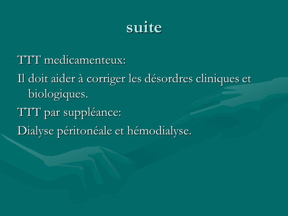 suite TTT medicamenteux: