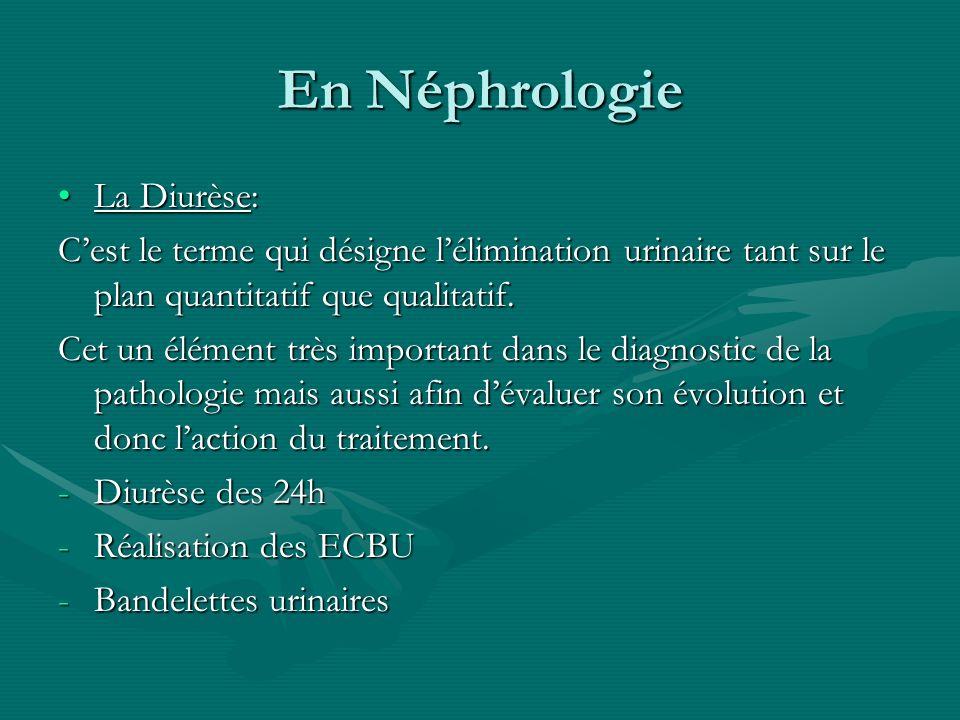 En Néphrologie La Diurèse: