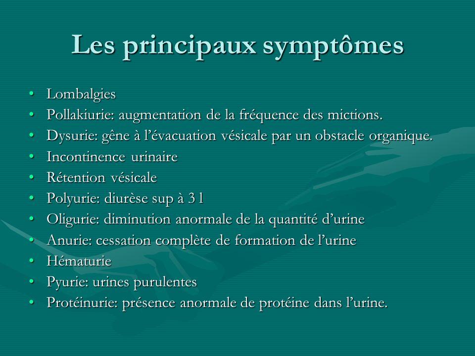 Les principaux symptômes