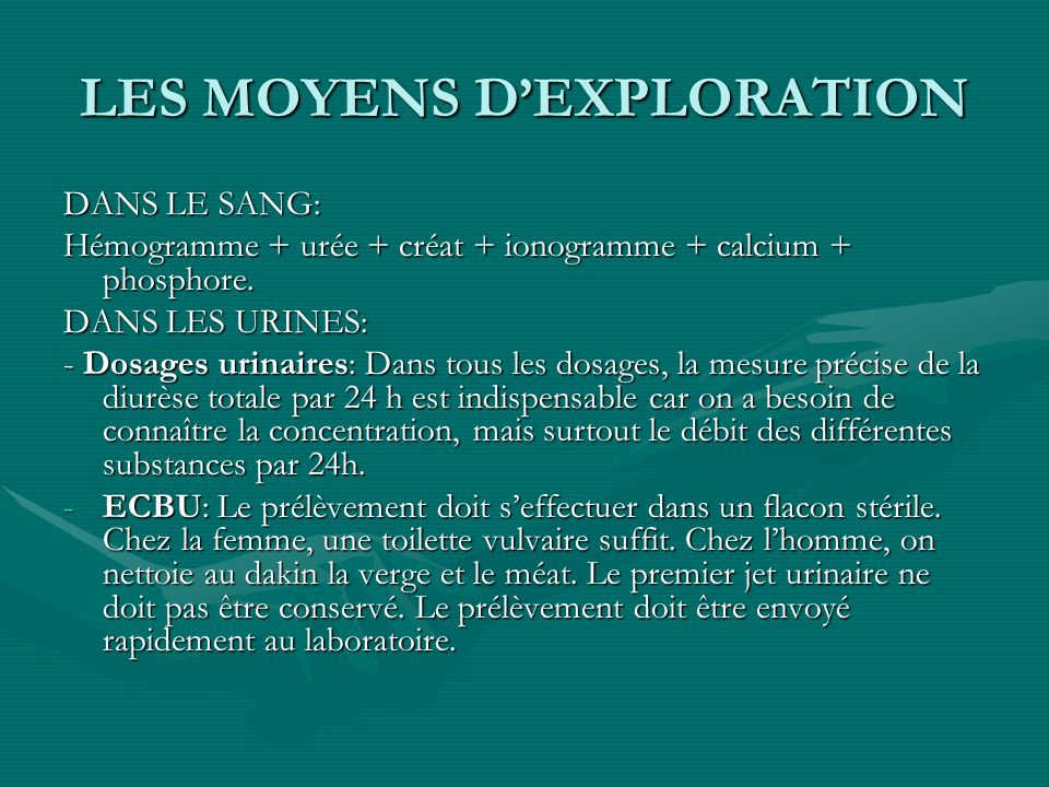 LES MOYENS D'EXPLORATION