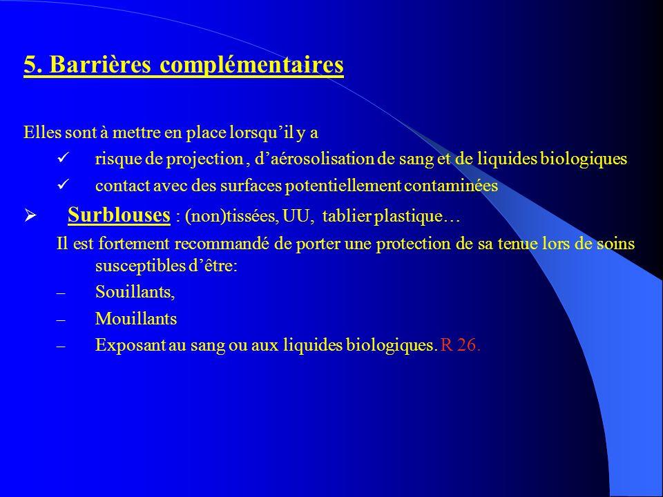 5. Barrières complémentaires