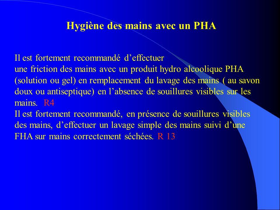 Hygiène des mains avec un PHA