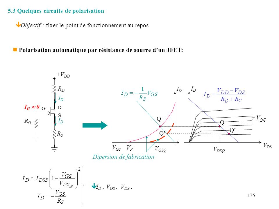 5.3 Quelques circuits de polarisation