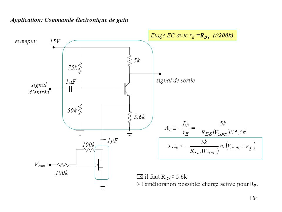Application: Commande électronique de gain