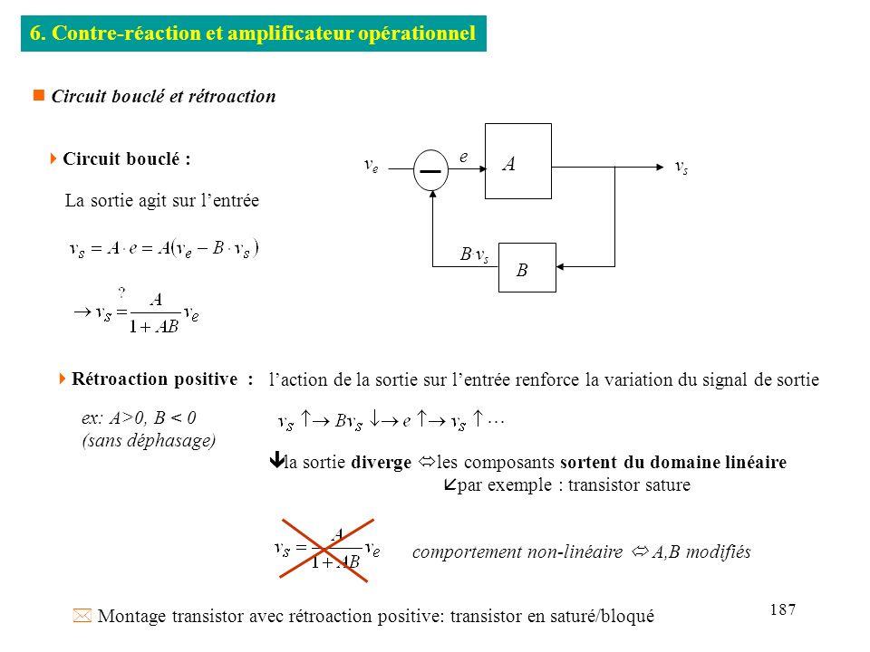 6. Contre-réaction et amplificateur opérationnel