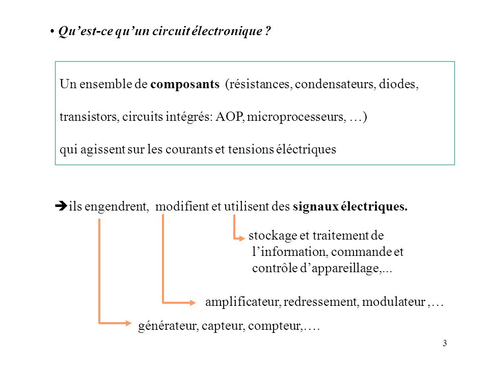 Qu'est-ce qu'un circuit électronique