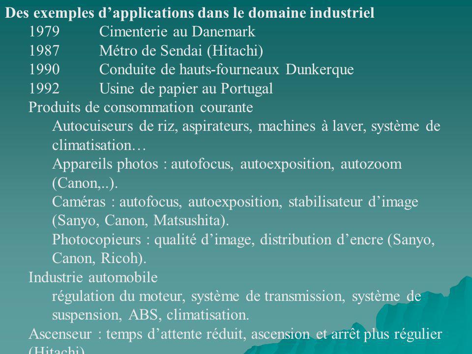 Des exemples d'applications dans le domaine industriel