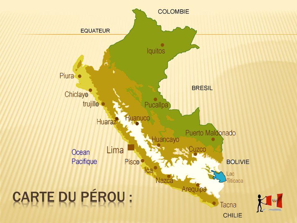 Carte du Pérou :