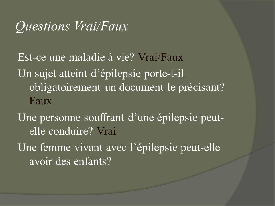 Questions Vrai/Faux