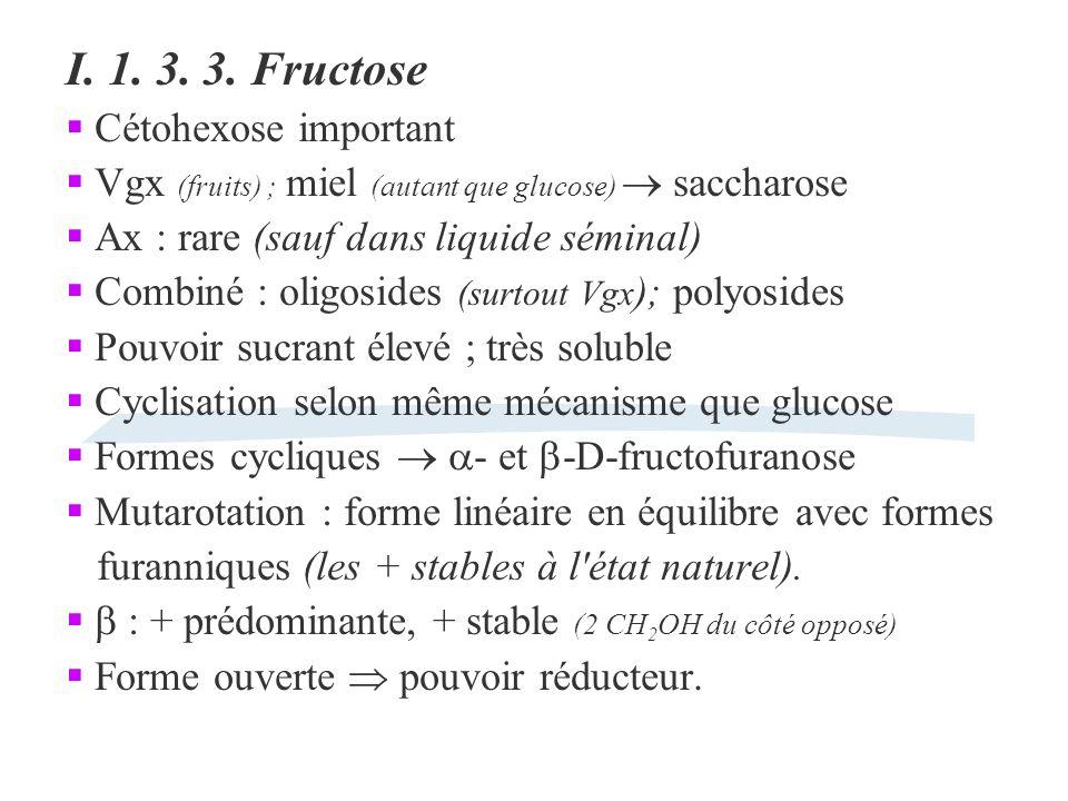 I. 1. 3. 3. Fructose Cétohexose important