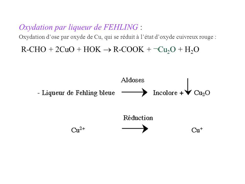 R-CHO + 2CuO + HOK  R-COOK + ¬Cu2O + H2O