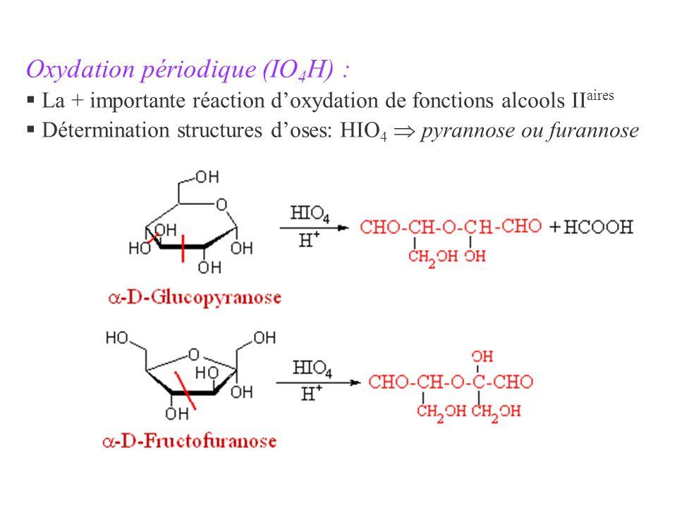 Oxydation périodique (IO4H) :
