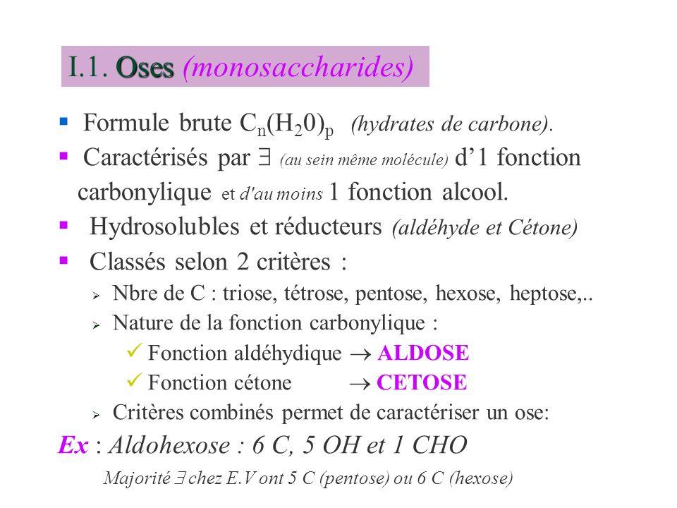 I.1. Oses (monosaccharides)