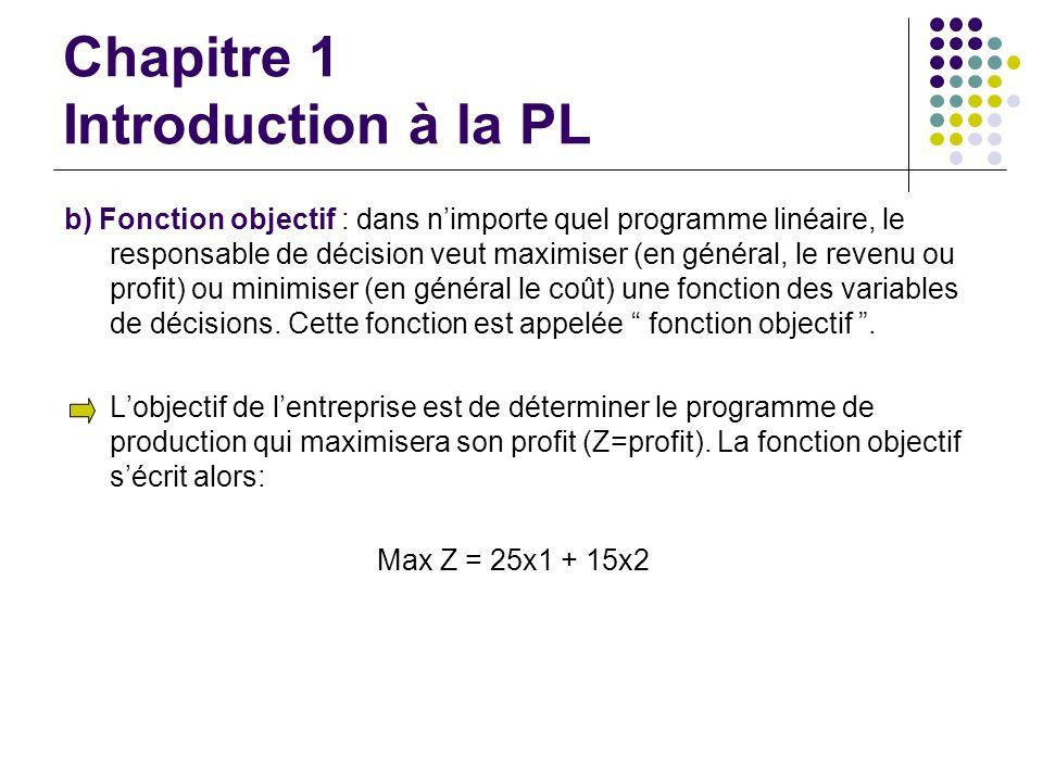 Chapitre 1 Introduction à la PL