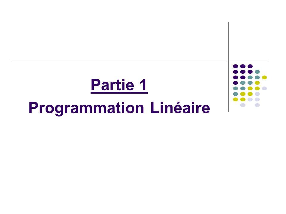 Partie 1 Programmation Linéaire