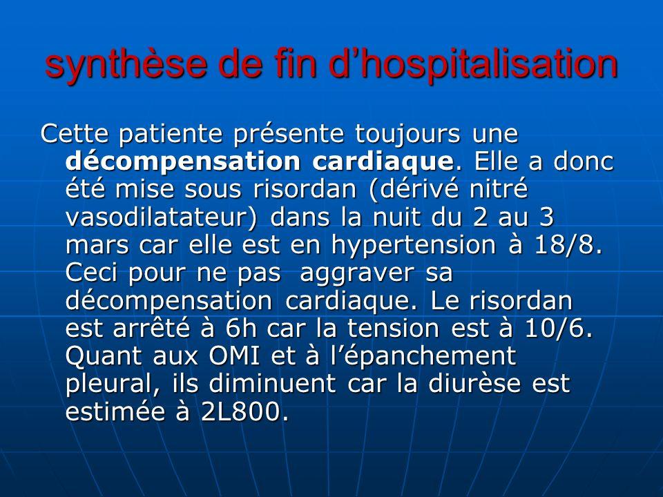synthèse de fin d'hospitalisation