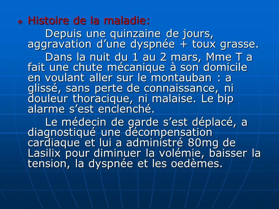 Histoire de la maladie: