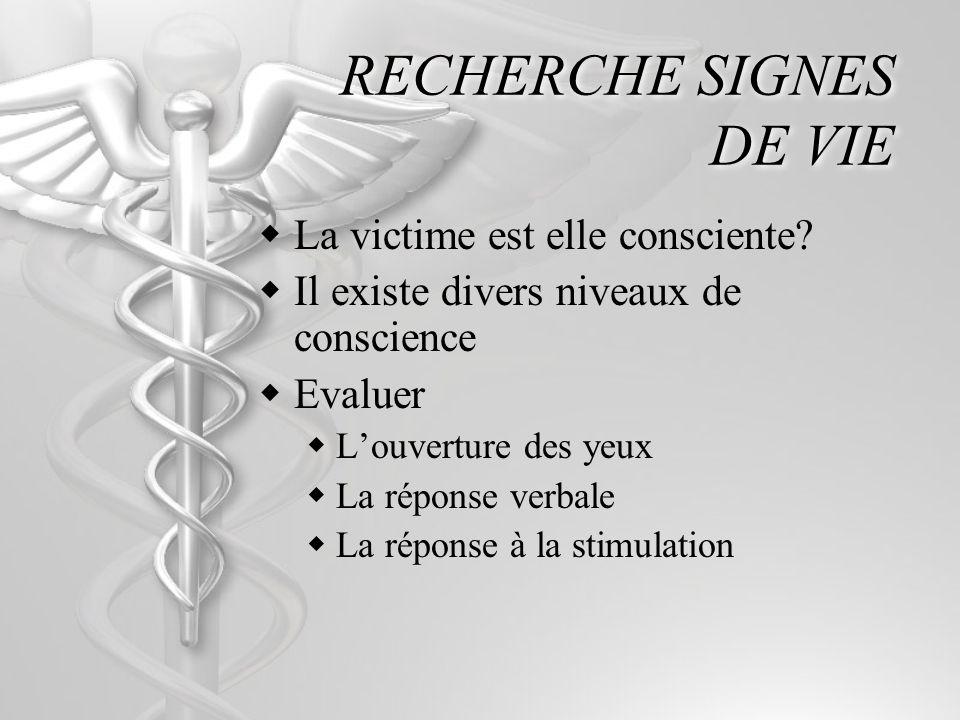 RECHERCHE SIGNES DE VIE
