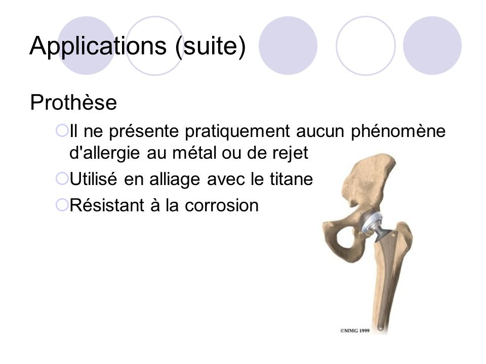 Applications (suite) Prothèse
