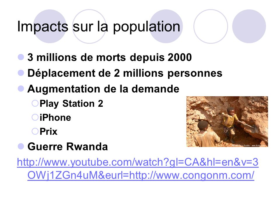 Impacts sur la population
