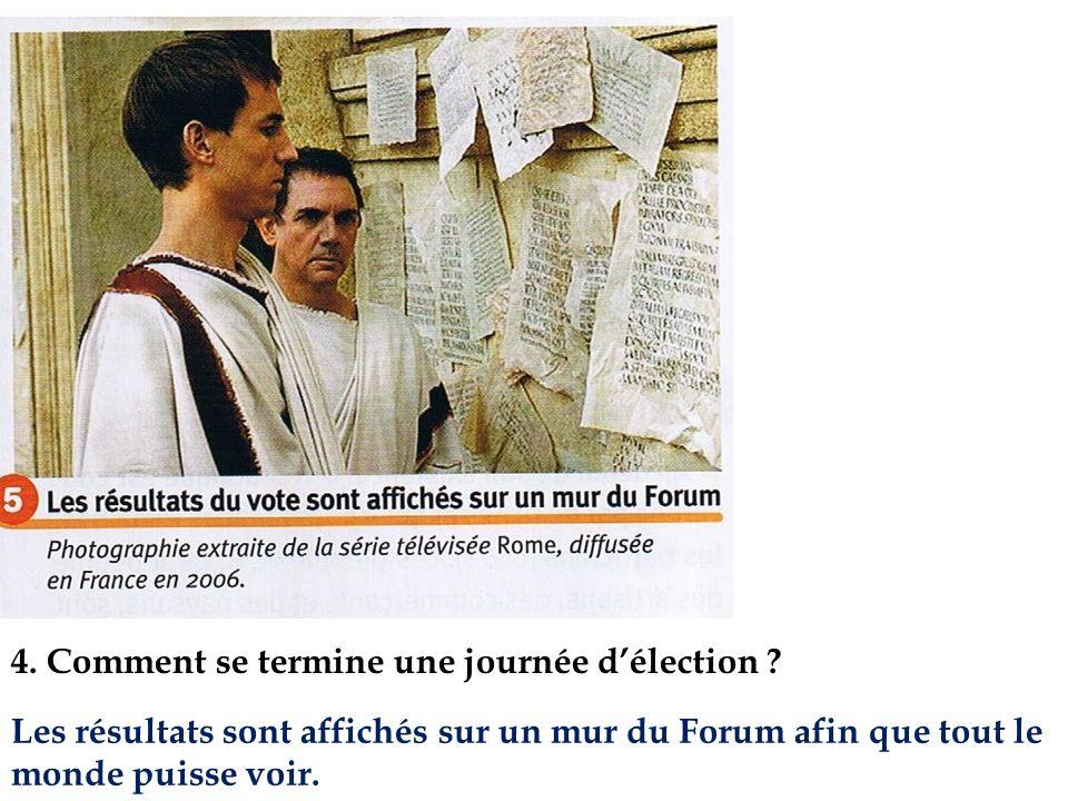4. Comment se termine une journée d'élection