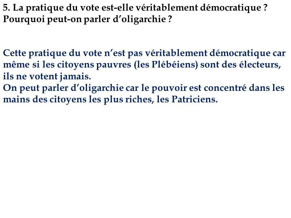 5. La pratique du vote est-elle véritablement démocratique