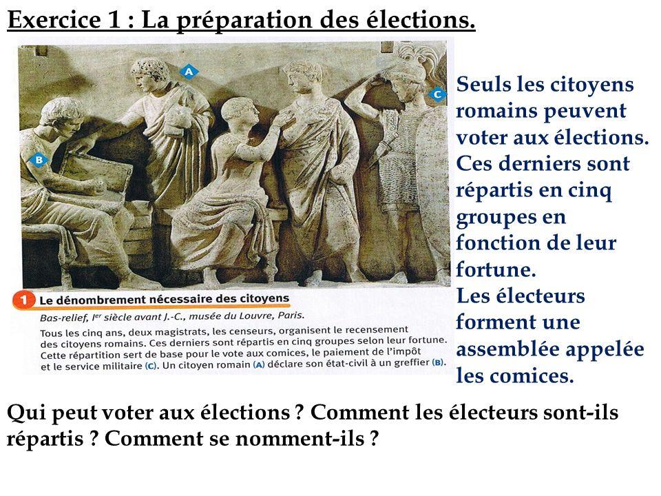 Exercice 1 : La préparation des élections.