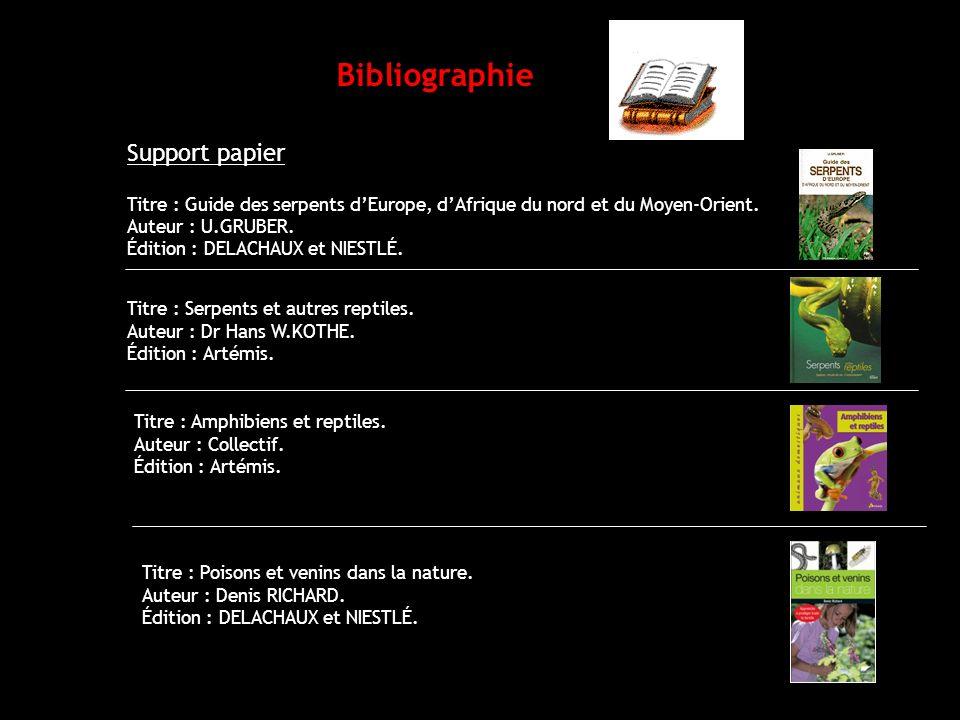 Bibliographie Support papier
