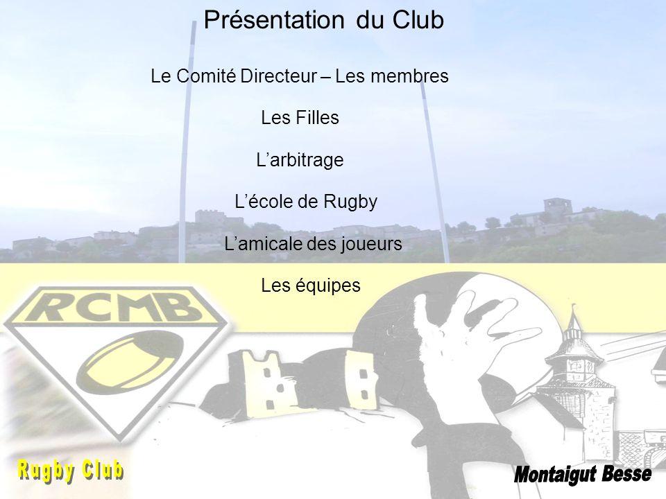 Présentation du Club Le Comité Directeur – Les membres Les Filles