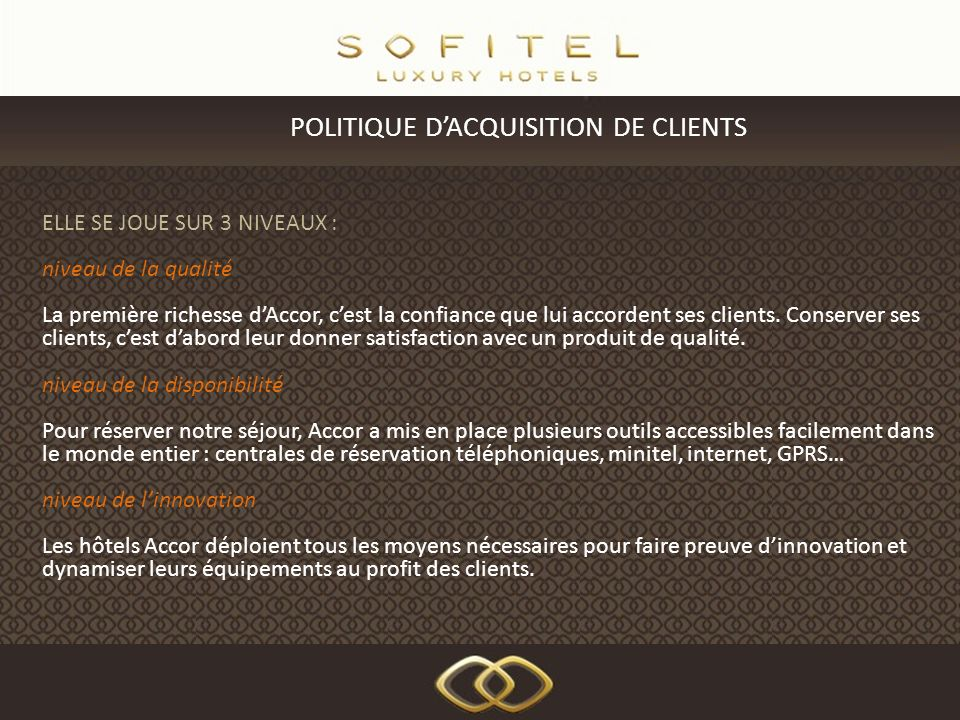 POLITIQUE D'ACQUISITION DE CLIENTS