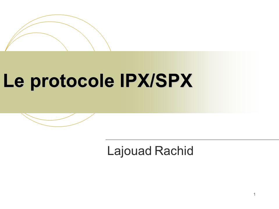Le protocole IPX/SPX Lajouad Rachid
