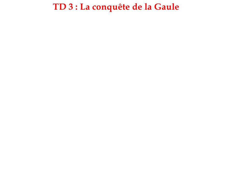 TD 3 : La conquête de la Gaule