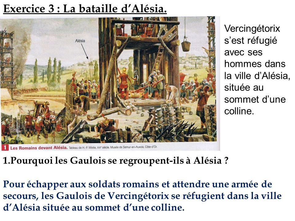 Exercice 3 : La bataille d'Alésia.