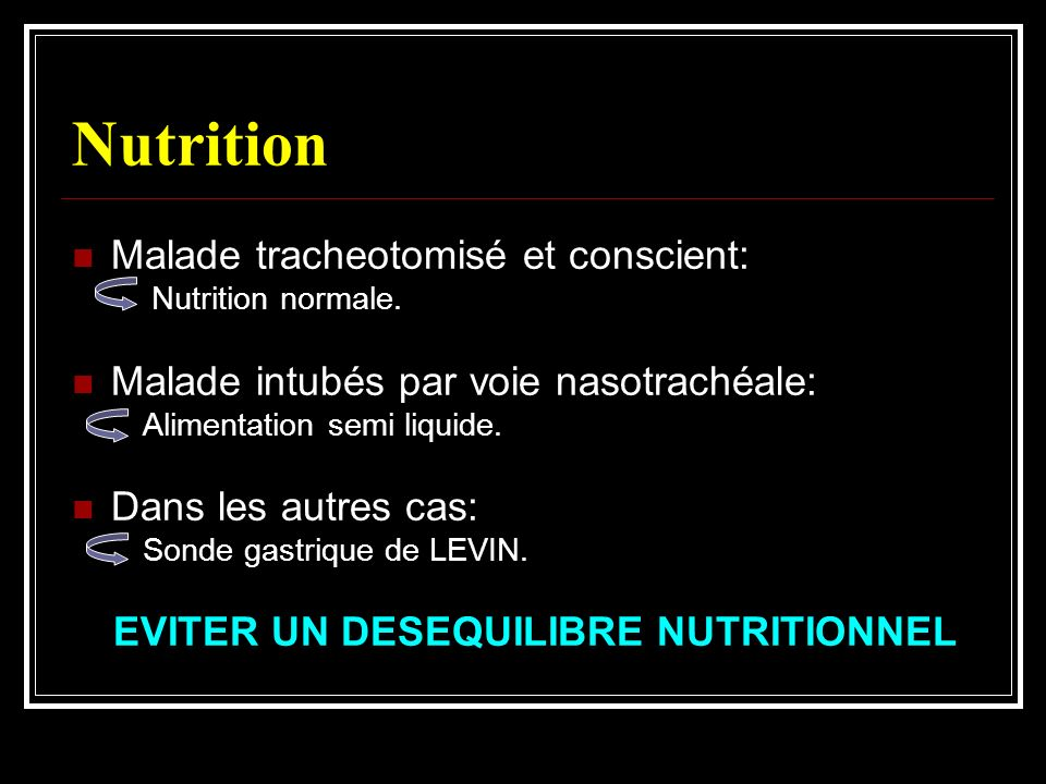 EVITER UN DESEQUILIBRE NUTRITIONNEL