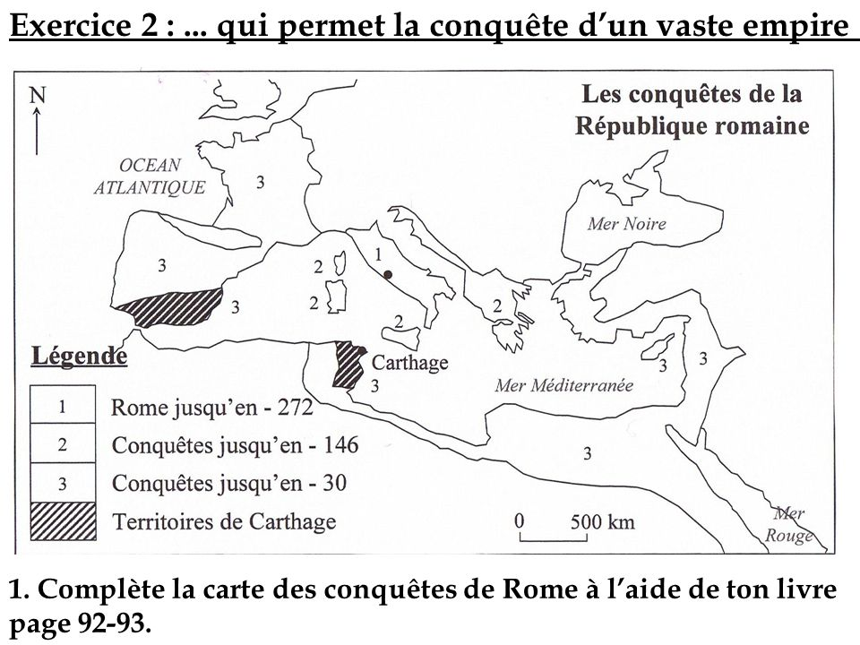 Exercice 2 : ... qui permet la conquête d'un vaste empire …
